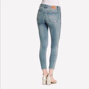 Lucky Brand Ava Metallic Stripe Skinny Jeans